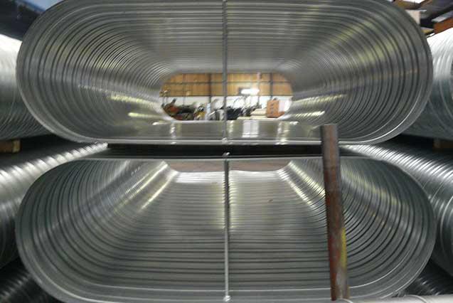 Ductwork wells spiral