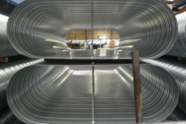 Flat Oval Duct Wells Spiral